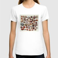 agate T-shirts featuring agate,gemstone by ira gora