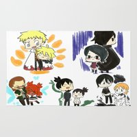 naruto Area & Throw Rugs featuring Father and Children (Naruto) by Minty Cocoa