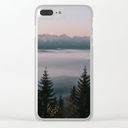 Faraway Mountains - Landscape and Nature Photography Clear iPhone Case