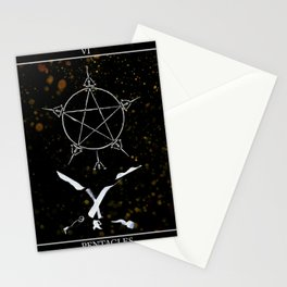 A Tarot of Ink 06 of Pentacles Stationery Cards