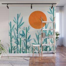 Zen Garden Sunset Wall Mural