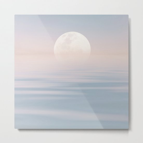 Moon and calm waters Metal Print