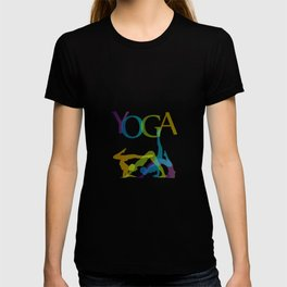 yoga poses in line T-shirt