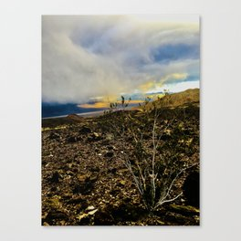 Storm Moving In Over Death Valley Canvas Print
