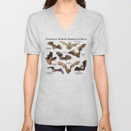 Common North American Bats Unisex V-Neck
