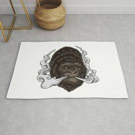 Vaping Gorilla Illustration | Monkey Vape Rug