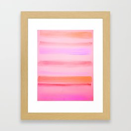 Sunset Stripes Framed Art Print