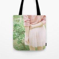 peach Tote Bags featuring Peach by Mariam Sitchinava