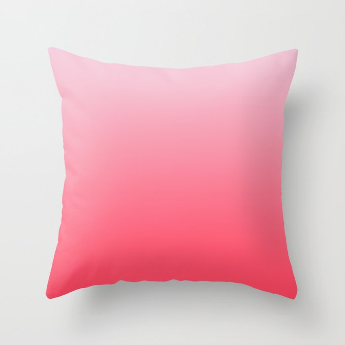 Ombre Pink Rose Gradient Pattern Throw Pillow