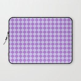 Pale Lavender Violet and Lavender Violet Diamonds Laptop Sleeve