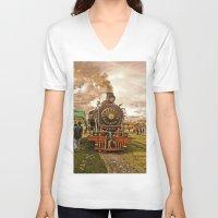 train V-neck T-shirts featuring Train by Alejandra Triana Muñoz (Alejandra Sweet