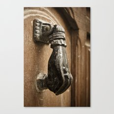 Door Knocker: Valencia, Spain Canvas Print