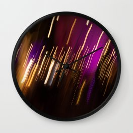 Light Trails Wall Clock