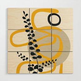 Abstract Yellow Line III Wood Wall Art