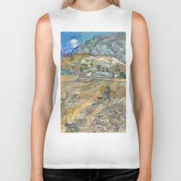 Landscape at Saint-Rémy by Vincent van Gogh Biker Tank