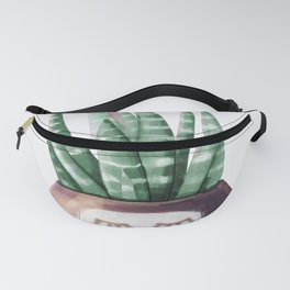 Sleepy Succulent Mint Green + Plum Fanny Pack