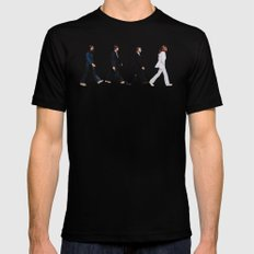 Abbey road LARGE Black Mens Fitted Tee