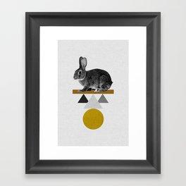 Tribal Rabbit Framed Art Print
