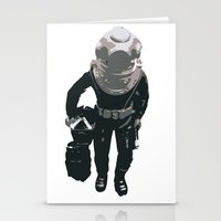 scuba Stationery Cards featuring Scuba Diver by Jentfah