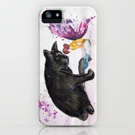Fairy cat Watercolour iPhone Case