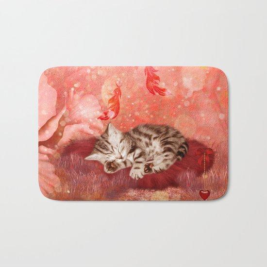 Cute little kitten Bath Mat