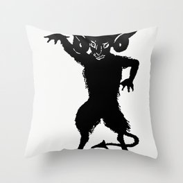 Demon silhouette from MrGrant Allens New Story Michaels Crag With Marginal Illustrations in Silhouet Throw Pillow