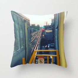 The El at Sunset Throw Pillow