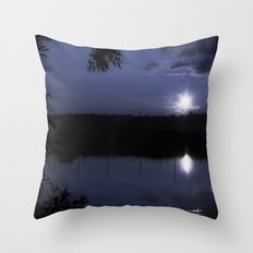 Cold summer night Throw Pillow