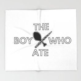 The Boy Who Ate - Wand and Chicken Crest Throw Blanket