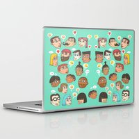 emoji Laptop & iPad Skins featuring emoji talk by Hugo Lucas