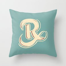 R Throw Pillow