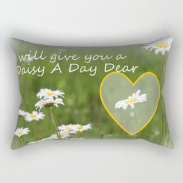 Daisy A Day Rectangular Pillow