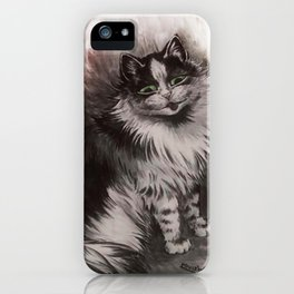 Big Black & White Cat - Louis Wain iPhone Case