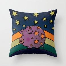 Peter The Magic Pig Throw Pillow