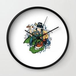 Fierce Warrior Wall Clock