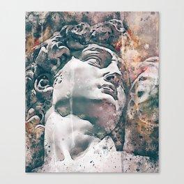 Watercolor Statue Of King David - Modern Gallery Art Canvas Print