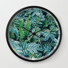 Greenery Circle Wall Clock