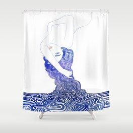 Water Nymph XXXVII Shower Curtain
