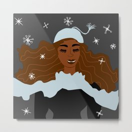 Magical Winter Night Metal Print