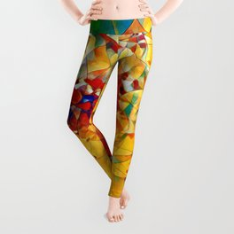 6759s-KMA The Woman in the Stained Glass Sensual Feminine Energy Emerging Leggings
