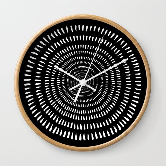 Fjorn black Wall Clock