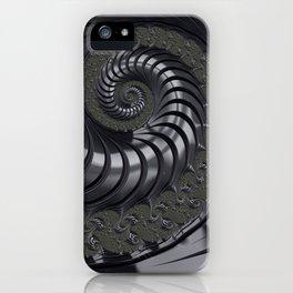 Hematite Fractal Swirl iPhone Case