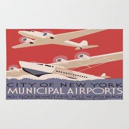 Vintage poster - New York Municipal Airports Rug