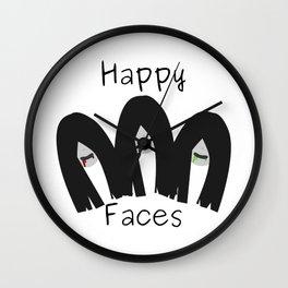 Happy faces Wall Clock