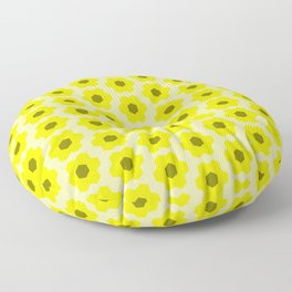 Floral No. 2 -- Yellow Floor Pillow