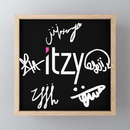 Itzy Signature Kpop Framed Mini Art Print