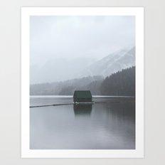Lone Cabin Art Print
