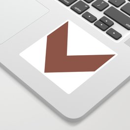 Chevron (Brown & White) Sticker