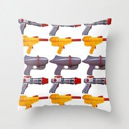 Radical Rayguns Throw Pillow