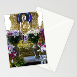 Buddha Shrine a Kuthodaw Pagoda, Myanmar Stationery Cards